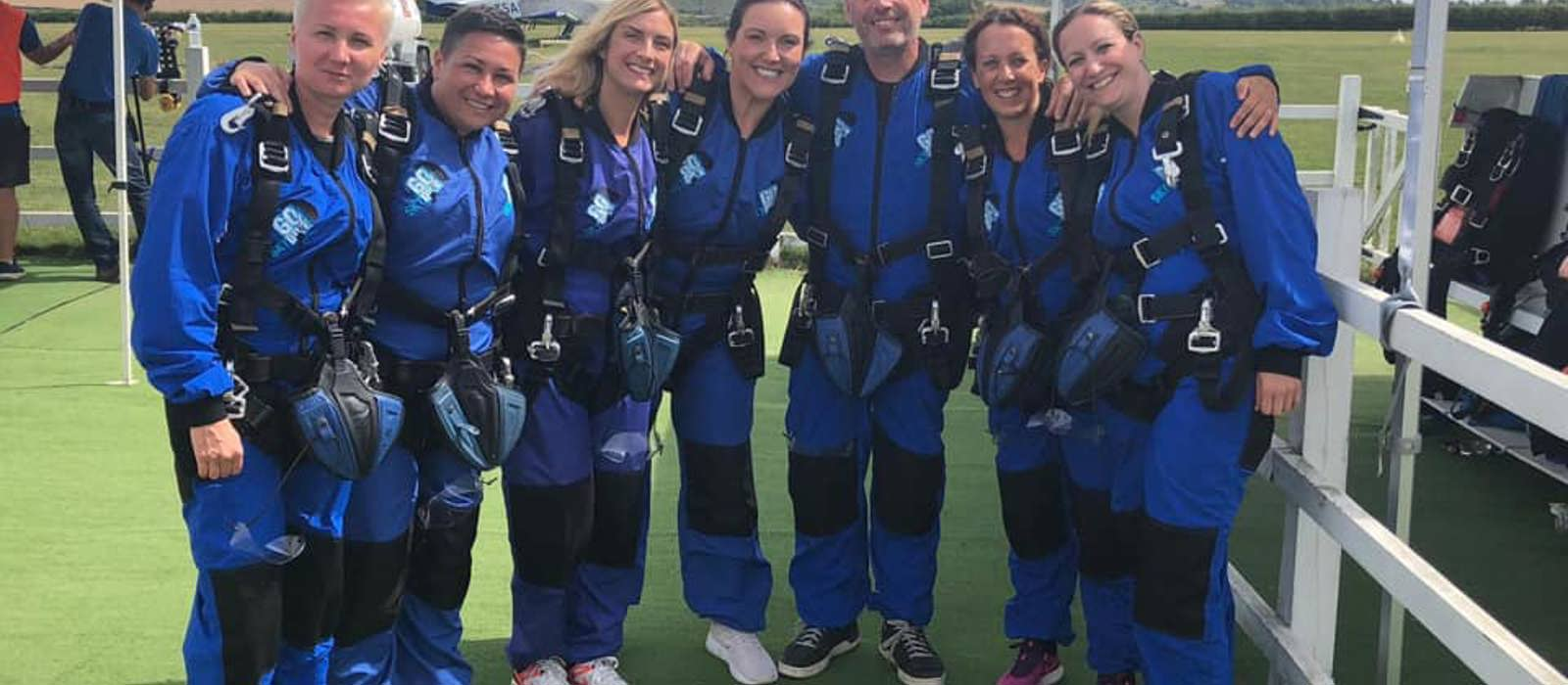 Sky Diving Team raises £4500 for the charity